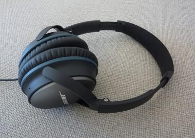 Bose qc-25 : casque déplié