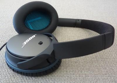 Bose qc-25 : vue des écouteurs