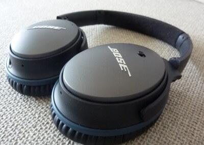 Bose qc-25 : écouteurs à plat